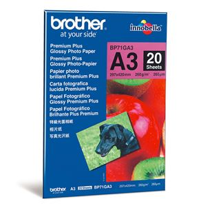 Fotopapīrs Premium Plus, Brother / A3, 260g/m2, 20 lpp
