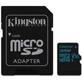 MicroSDHC Canvas Go! memory card, Kingston / 32GB