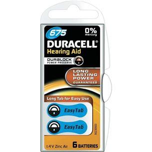 Baterijas dzirdes aparatam Hearing Aid 675, Duracell / 6 gab