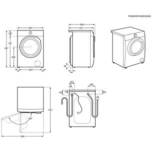 Washing machine Electrolux (9 kg)