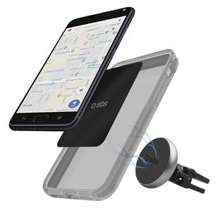 Автомобильный держатель для телефона с магнитом, SBS TESUPWIDEROUNDCLIP