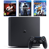 Spēļu konsole PlayStation 4 Slim, Sony / 500 GB + 3 spēles