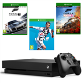 Gaming console Microsoft Xbox One X (1TB) + 3 games