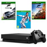 Spēļu konsole Microsoft Xbox One X (1TB) + 3 spēles