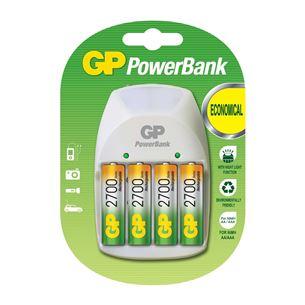 Lādētājs PowerBank Nite Lite + 4 baterijas, GP / 2700 mAh