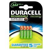 Lādējamās baterijas AAA, Duracell / 800 mAh / 4 gab