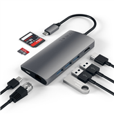 Adapteris USB-C Multi-Port 4K Gigabit Ethernet, Satechi