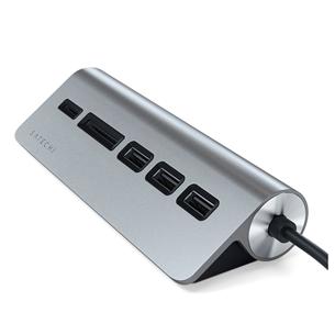 Хаб USB-C + считыватель карты памяти Satechi