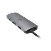 Adapteris USB-C / HDMI; LAN; USB3.0; SD+MicroSD; USB-C, Xtorm
