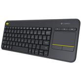 Bezvadu klaviatūra K400 Plus, Logitech / RUS