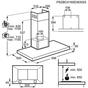 Tvaika nosūcējs, AEG / 779 m³/h