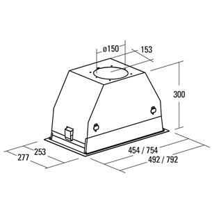 Tvaika nosūcējs, Cata / 820 m³/h