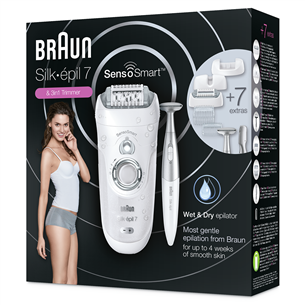 Epilators Silk-épil 7 SensoSmart + bikini trimmeris, Braun