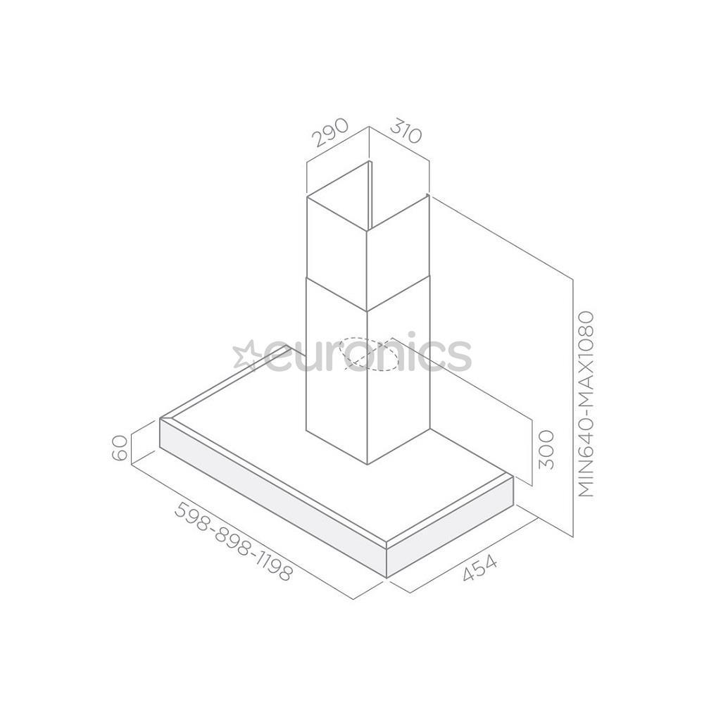 Tvaika nosūcējs Top, Elica / 713 m³/h