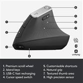 Bezvadu pele MX Vertical Advanced Ergonomic, Logitech
