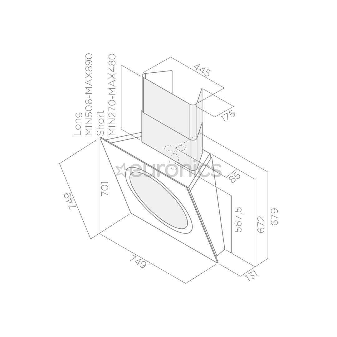 Вытяжка Om Air Sense, Elica / 625 m³/h
