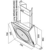 Tvaika nosūcējs Loop, Elica / 780 m³/h