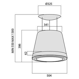Tvaika nosūcējs Summilux, Elica / 384 m³/h