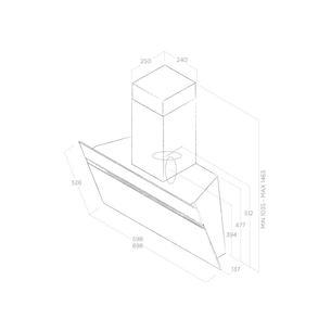 Tvaika nosūcējs Stripe, Elica / 757 m³/h