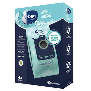 Putekļu maisiņi S-bag® Anti-Allergy, Electrolux / 4 gab