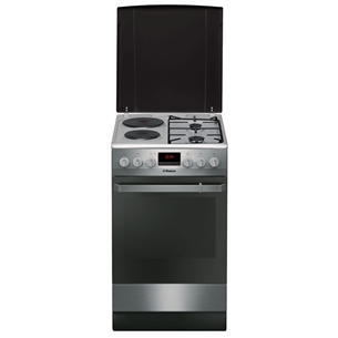 Combined cooker with electric oven, Hansa (50 cm) FCMX58290