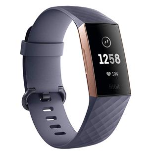 Aktivitāšu sensora aproce Charge 3, Fitbit