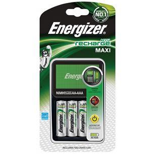 Lādētājs Recharge Maxi, Energizer + 4 AA baterijas