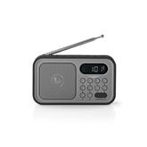 Portatīvais radio atskaņotājs RDFM2200BK, Nedis