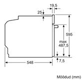 Iebūvējama elektriskā cepeškrāsns, Bosch / tilpums: 71 L