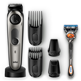 Beard trimmer Braun + Gillette Fusion razor