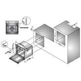 Iebūvējama elektriskā cepeškrāsns, Schlosser / tilpums: 50 L