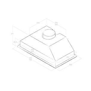 Tvaika nosūcējs Era C, Elica / 365 m³/h