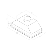 Tvaika nosūcējs Era C, Elica / 368 m³/h