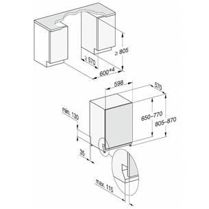Интегрируемая посудомоечная машина Miele (14 комплектов посуды)