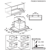 Tvaika nosūcējs, Electrolux / 700³/h