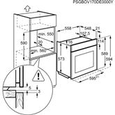 Iebūvējama elektriskā cepeškrāsns, Electrolux / tilpums: 72 L