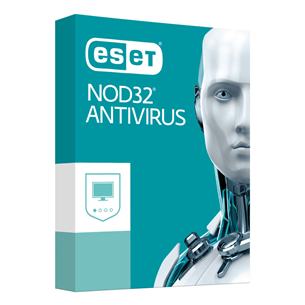 ESET NOD32 Antivirus / 2 users, 12M, 18M renew ENA2-V12-BOX-LV-EU