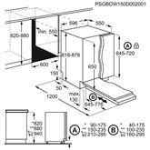 Iebūvējama trauku mazgājamā mašīna, AEG / 14 komplektiem