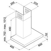 Tvaika nosūcējs, Hansa / 683 m³/h