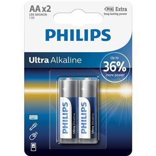 Baterijas LR6E AA Ultra Alkaline, Philips / 2gb LR6E2B/10