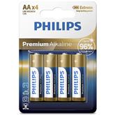 Battery Philips LR6M AA 4 Premium Alkaline (4 pc)