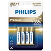 4 x Battery Philips LR03M AAA Premium Alkaline