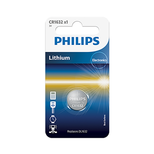 Baterija CR1632 3 V Lithium, Philips CR1632/00B