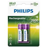 Аккумуляторные батарейки Philips AA 2600 мАч (2 шт)