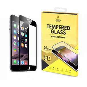 iPhone 7/8 Full Face 5D Tempered Glass, Mocco MOC-T-5D-APP-IP8-BK