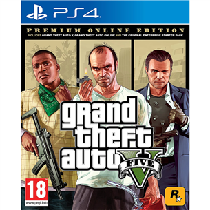 Spēle priekš PlayStation 4 Grand Theft Auto V: Premium Online Edition