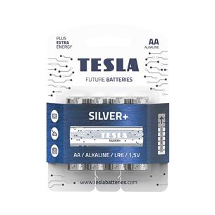 Baterijas SILVER+ AA LR06, Tesla / 4 gab