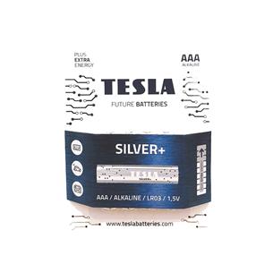 Baterijas SILVER+ AAA LR03, Tesla / 4 gab