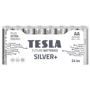Baterijas SILVER+ AA LR06, Tesla / 24 gab