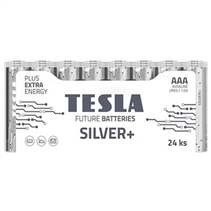 Baterijas SILVER+ AAA LR03, Tesla / 24 gab